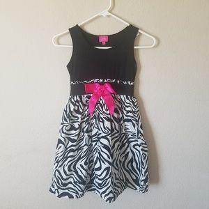 Cute Animal Print Zebra Striped Girls Dress 8